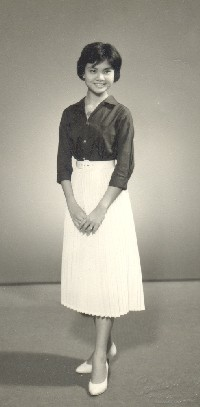 Studio portrait of Leong Siew-Yue (later Siew-Yue Killingley) 1958